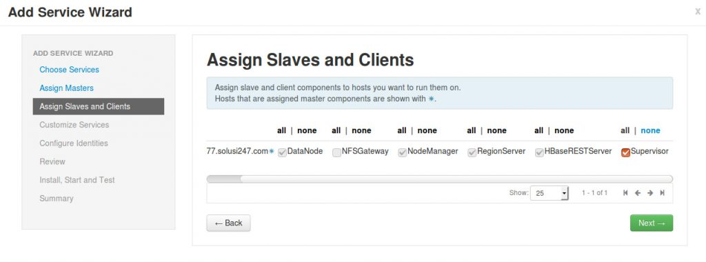 Assign Slaves dan Client