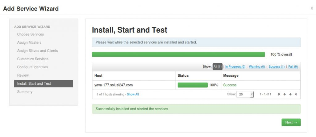Install, Start and Test