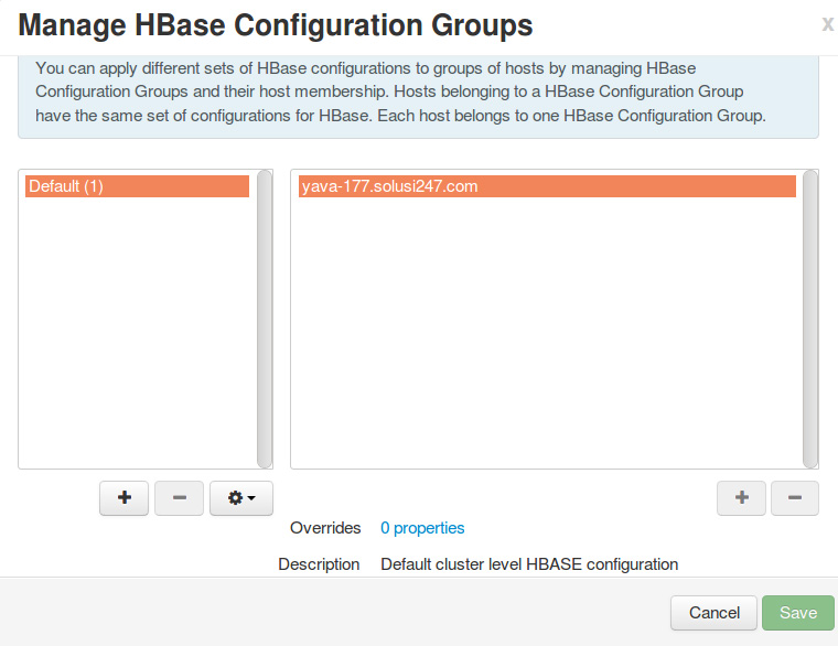 Manage Host Config Groups